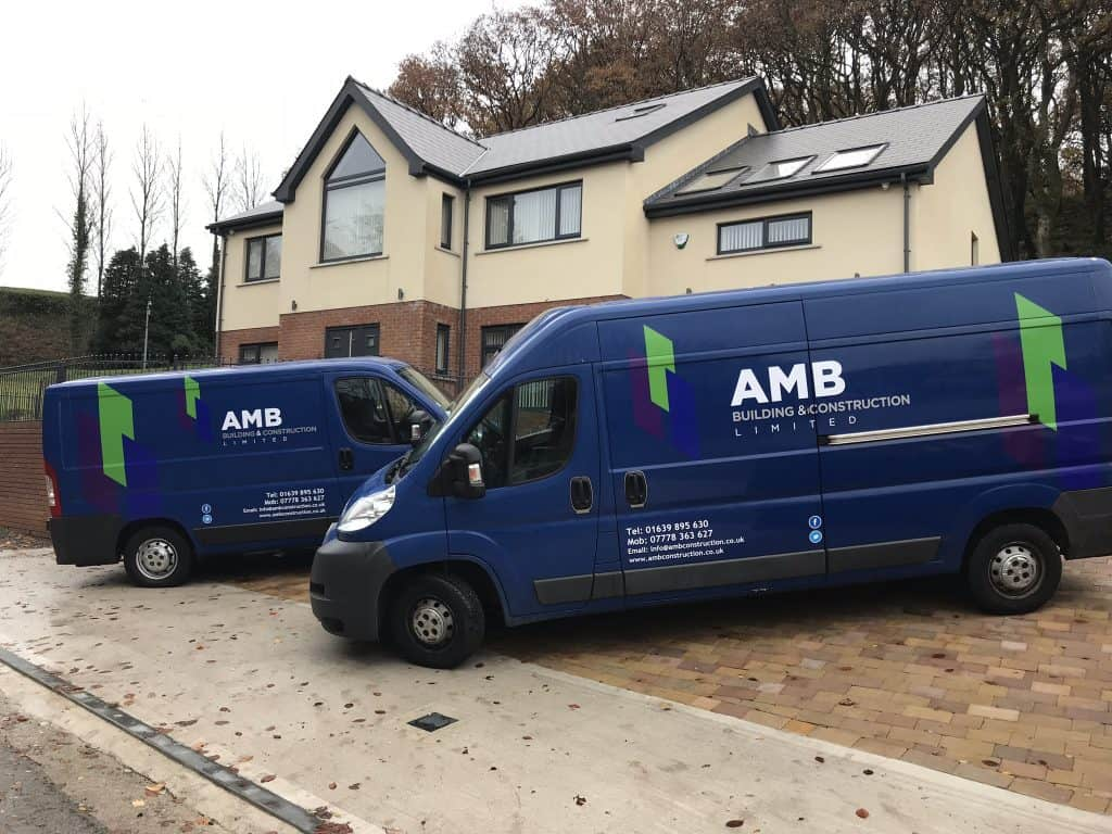 AMB Builders fleet of vehicles